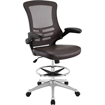 Amazon Com Modway Attainment Drafting Chair In Brown