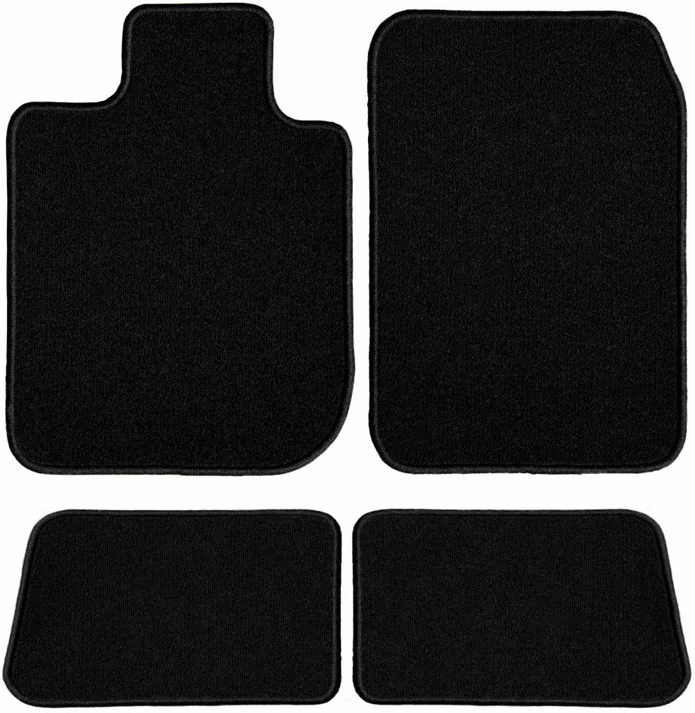 2011 2015 2014 Passenger /& Rear Floor 2016 Audi S4 Black Driver 2012 2013 GGBAILEY D60430-S1A-BLK Custom Fit Car Mats for 2010