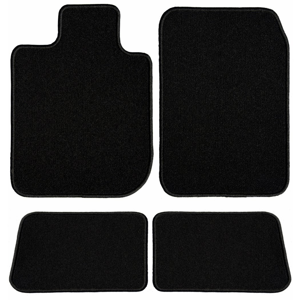 Passenger /& Rear Floor GGBAILEY D60221-S1A-BLK Custom Fit Car Mats for 2015 2017 2016 2018 Lexus RC Black Driver