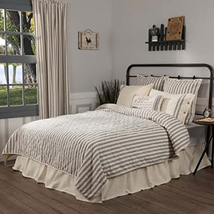 Amazon Com Piper Classics Market Place Ticking Stripe Quilt Twin