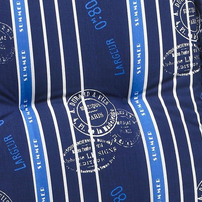 6 Hochlehner Auflagen 8 Cm Dick 120 Cm Lang In Blau Ibiza 20578 100