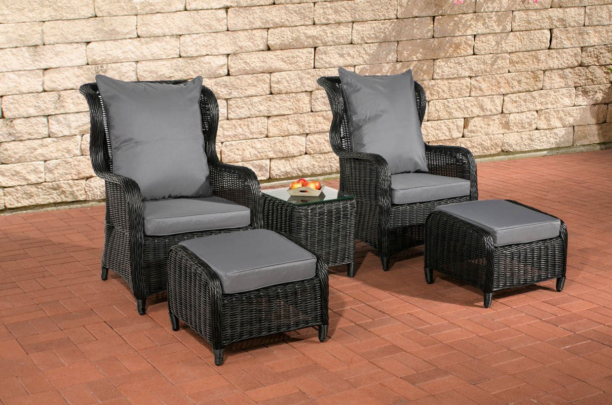 clp poly rattan balkon sitzgruppe treviso ben tigte stellfl che 2 x 2 meter 5 mm rund geflecht. Black Bedroom Furniture Sets. Home Design Ideas