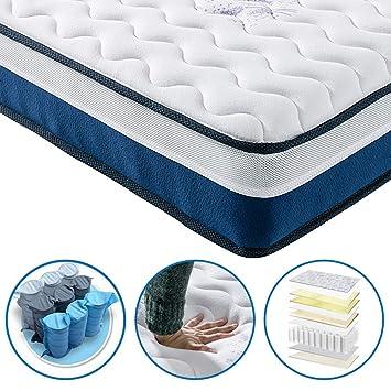 Lujo 3 ft zona de confort colchón de espuma de memoria y Reflex colchón de muelles colchón 3FT(190x90x22 cm): Amazon.es: Hogar