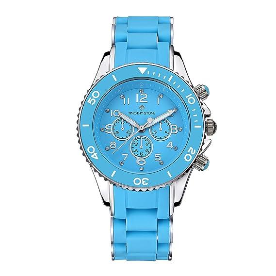 Timothy Stone Colección Amber - Reloj Mujer de Cuartzo, Color Azul/Plata