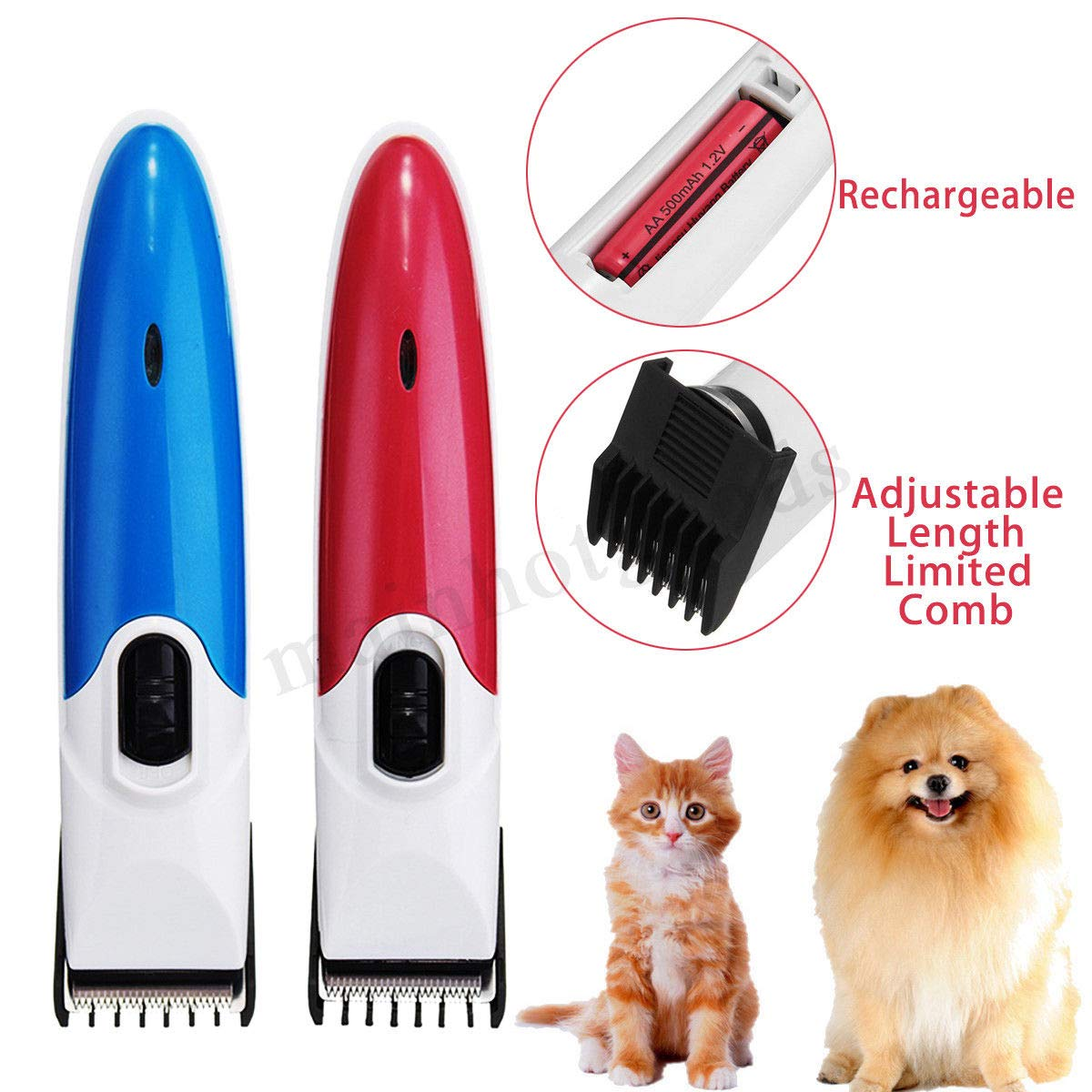 Generic mmer Cutting Clippers Cordless Cat Electric Pet Dog Hair Shaver Grooming Clippers Trimmer Cutting COLOR RANDOM Electric Pet