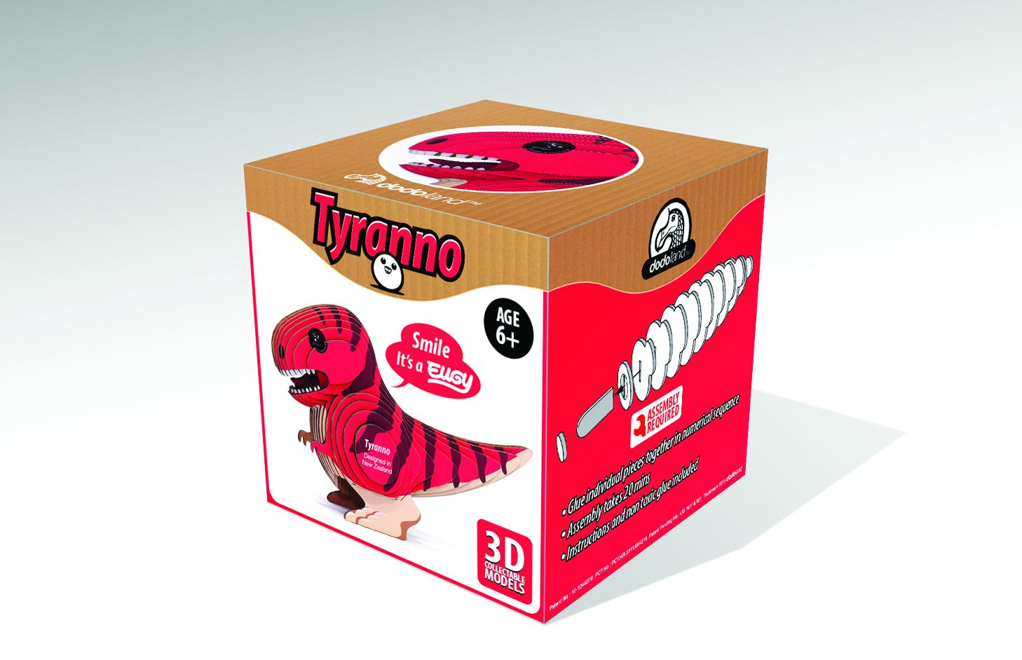 GeoToys Eugy Cardboard Miniatures Kit, Tyranno Eugy
