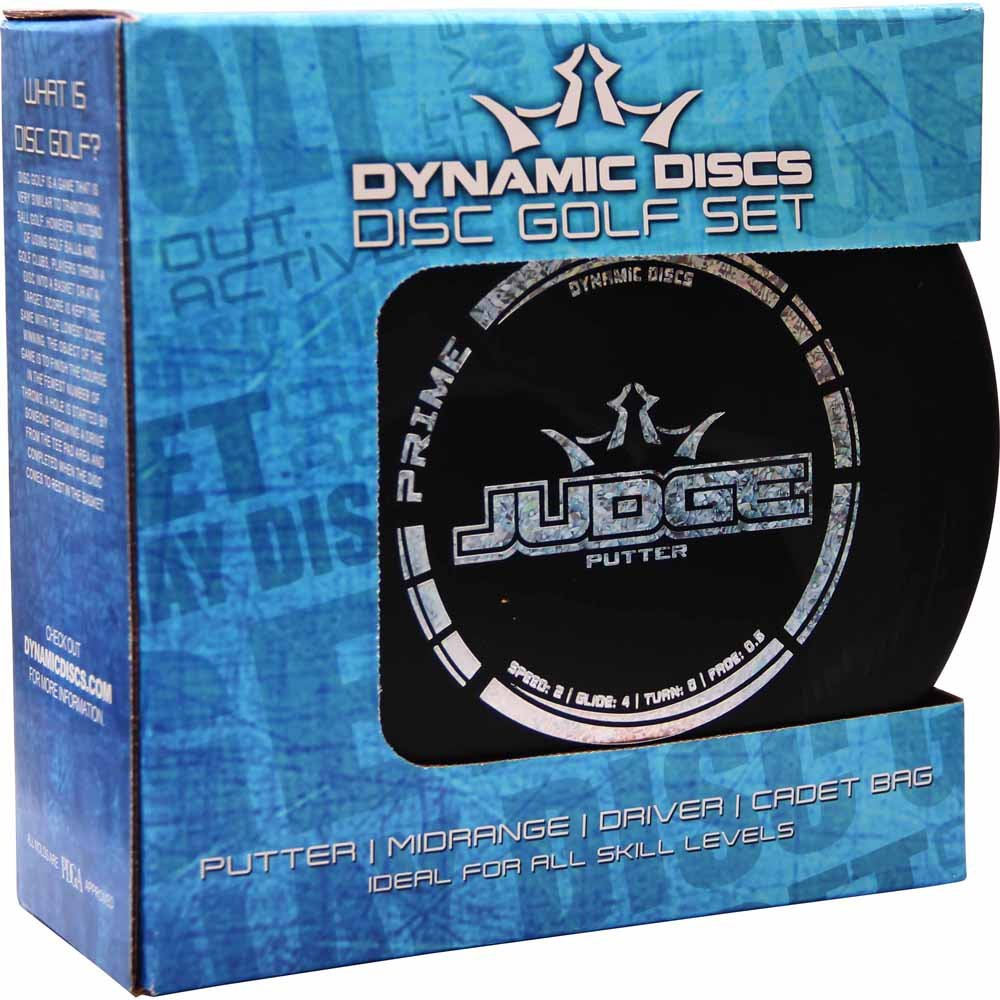 Dynamic Discs Prime Disc Golf Starter Set with Cadet Bag [Disc weights and colors may vary] by Dynamic Discs