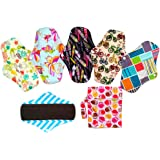 Charcoal Bamboo Mama Cloth/Menstrual Pads/Reusable Sanitary Pads (MC10-6)