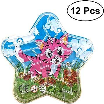 TOYANDONA 12 Unids Juego de Mesa de Rompecabezas magnético Juego de Laberinto de Bolas Laberinto Juguete de Desarrollo de Juguete para bebés y niños pequeños: Amazon.es: Juguetes y juegos