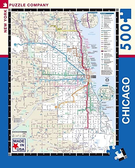 Subway Map Chicao.New York Puzzle Company Chicago Transit Cta Transit Puzzle 500 Piece Jigsaw Puzzle