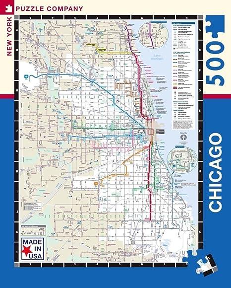 Amazon Com New York Puzzle Company Chicago Transit Cta Transit