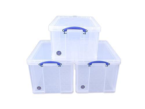Really Useful 2 x 84 + 1 x 64 Litre Storage Box Clear Bonus  sc 1 st  Amazon UK & Brand New. Really Useful Storage Box Plastic Lightweight Robust ...