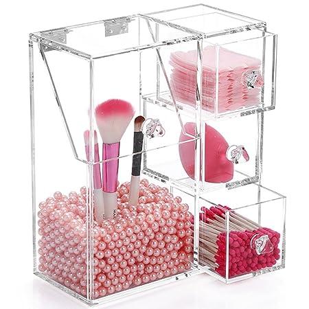 f449ea18bc29 Weiai Clear Large Makeup Brush Holder Organizer Box Acrylic Makeup ...