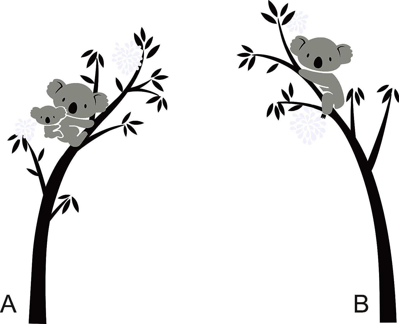 Bdecoll Vinilos decorativos///Árbol de 3 Koalas adhesivos vinilo de ni/ños//habitaci/ón Guarder/ía infantil Beb/é decoraci/ón azul