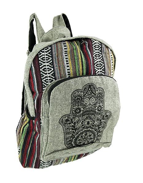 c159beea66e6 Amazon.com  Kathmandu Imports Striped Hamsa Hand Cotton Boho ...