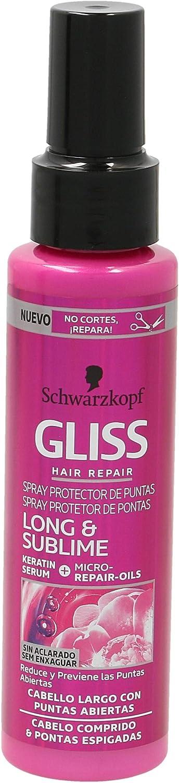 GLISS serum protector de puntas long & sublime spray 100 ml