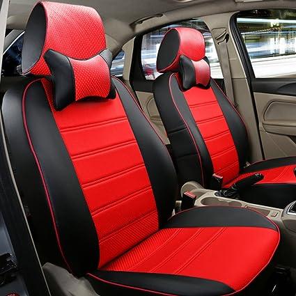 Amazon com: AutoDecorun Full Set Car Seat Cover PU Leather Styling