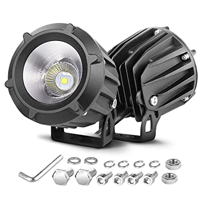 LED Driving Lights, Nirider 2PCS 50W CREE Round 3.5 Inch Motorcycle Fog Lights Spot Flood Combo Off Road Work Lights LED Pods for Motorcycle Dirt Bike ATV UTV Truck Jeep Car Waterproof: Automotive