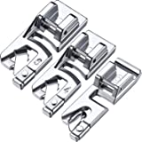 3 Pieces Narrow Rolled Hem Sewing Machine Presser Foot Set Suitable for Household Multi-Function Sewing Machines (3 mm, 4 mm and 6 mm)