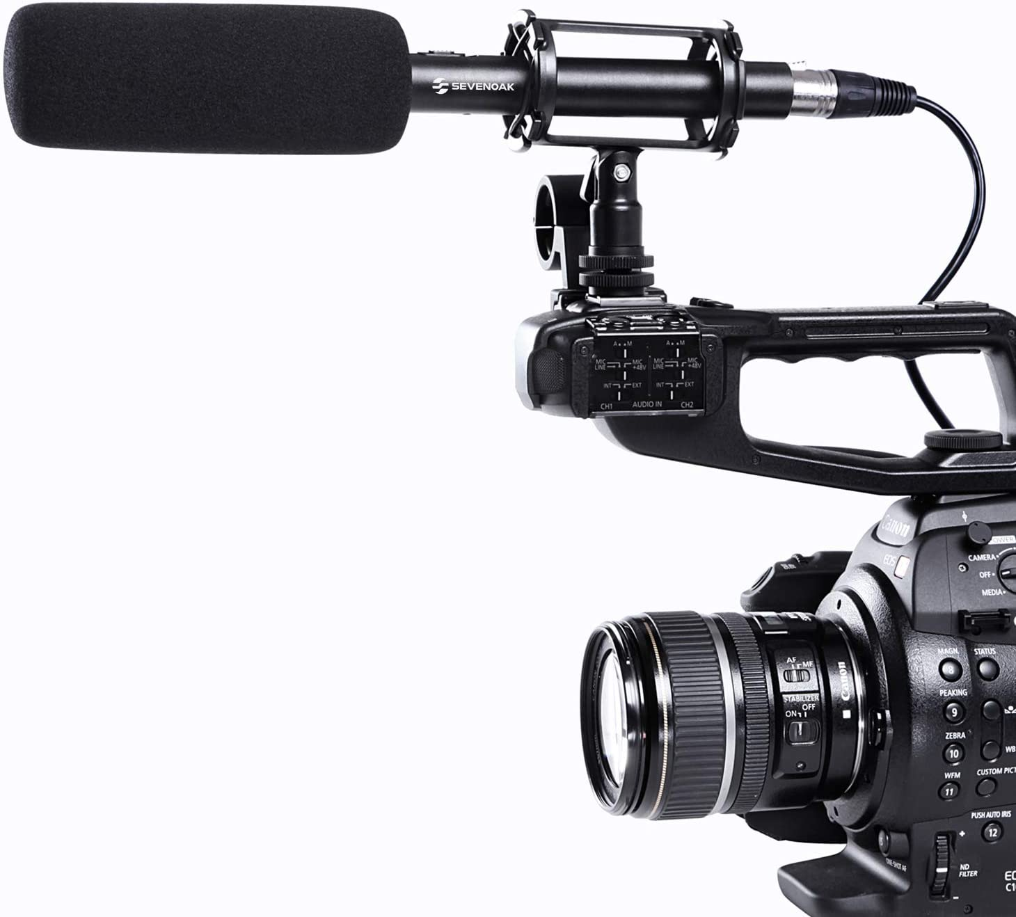 BY-PVM1000 by PVM1000 BY-PVM1000 Condenser Shotgun Video//Interview Microphone for Canon Nikon Sony DSLR Camera with Free Windshield