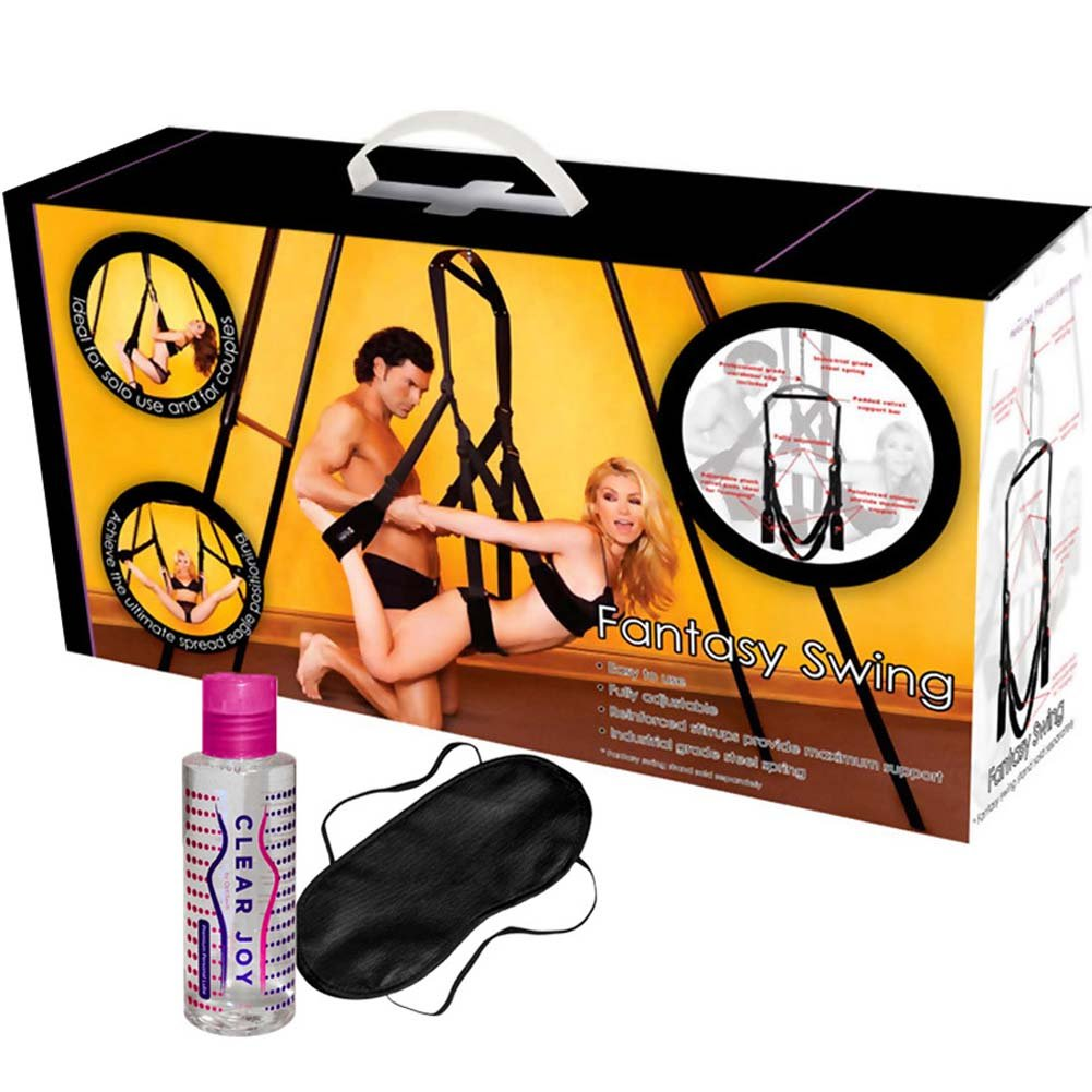 OptiSex Romantic Fantasy Swing Kit with Love Eye Mask and Premium Personal Lube