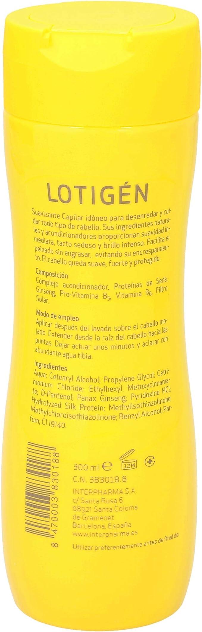 LOTIGEN suavizante capilar bote 300 ml: Amazon.es: Salud y cuidado personal
