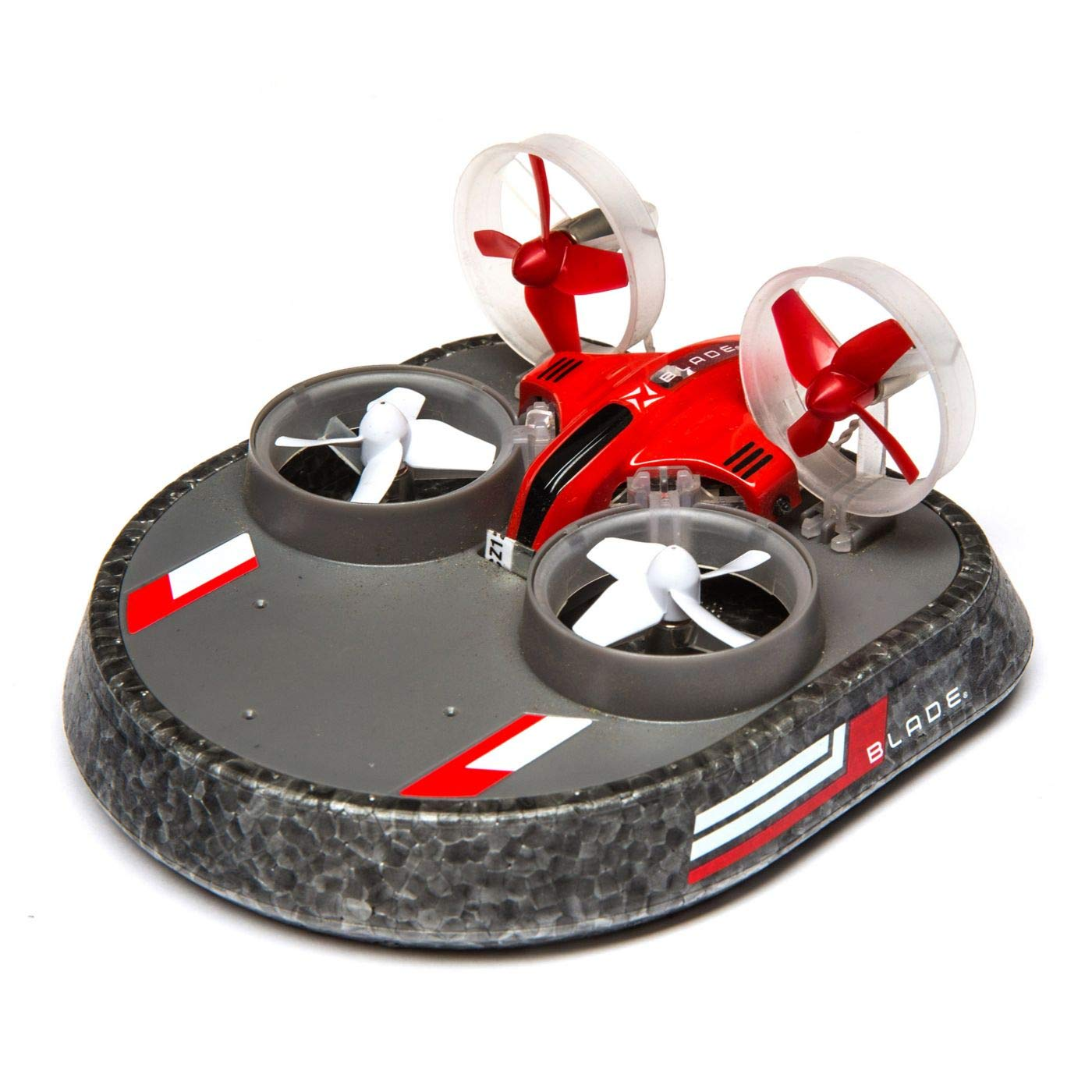 Blade Inductrix Switch Rc Micro Drone Rtf 3-in-1 (Switchable Drone, Hovercraft, Watercraft) with Led Lights, 2.4Ghz Transmitter, Battery & USB Charger: BLH9800 (Red)