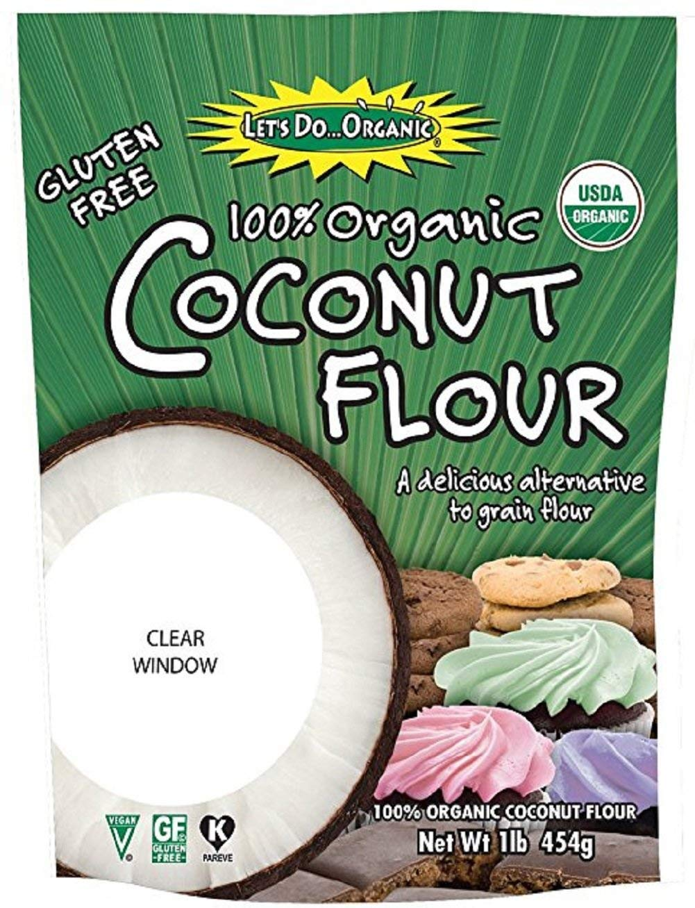 Let's Do Organic Coconut Flour, 16-Ounce Pouches (Pack of 12)
