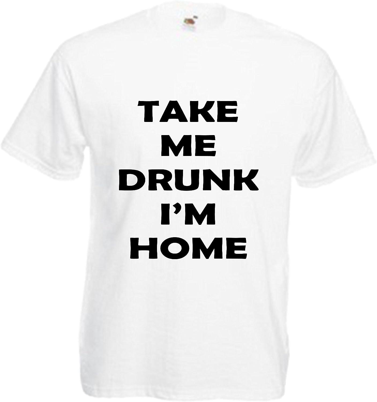 Rutmerch Men's Take Me Drunk I'm Home T Shirt Funny Pub Joke Gift Cool Present