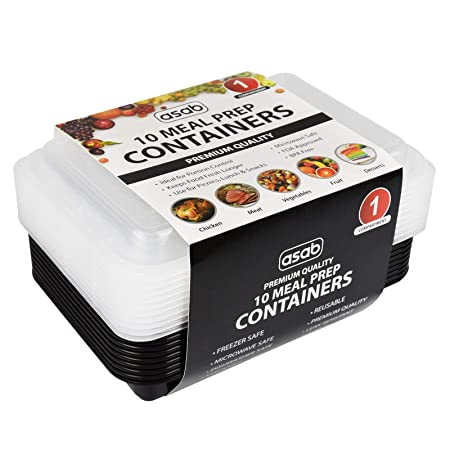 ASAB 10 recipientes de Comida preparada - Plástico sin BPA - Apto ...