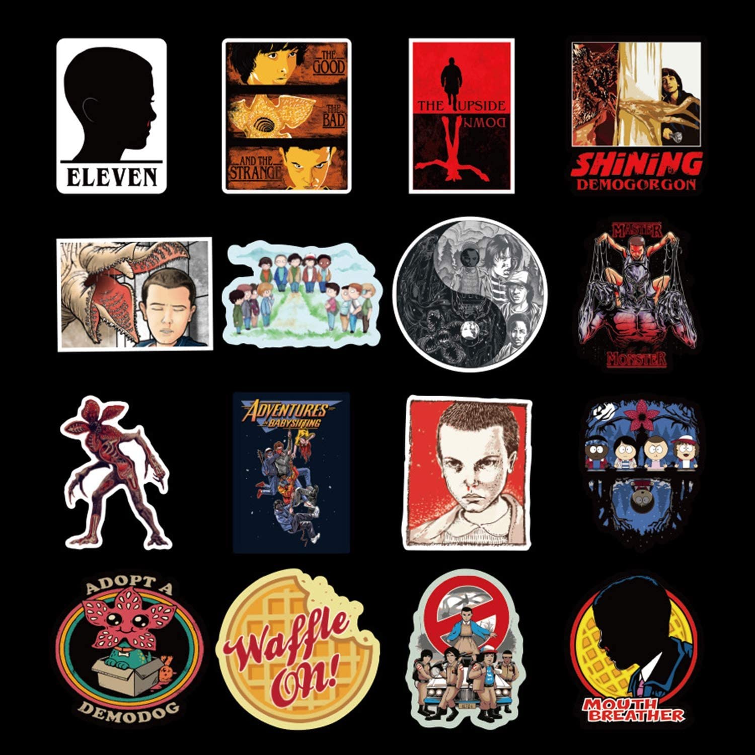 100pcs America Drama Stranger Things Stickers for Water Bottles Laptop Motorcycle Bicycle Skateboard Luggage Decal Graffiti Patches