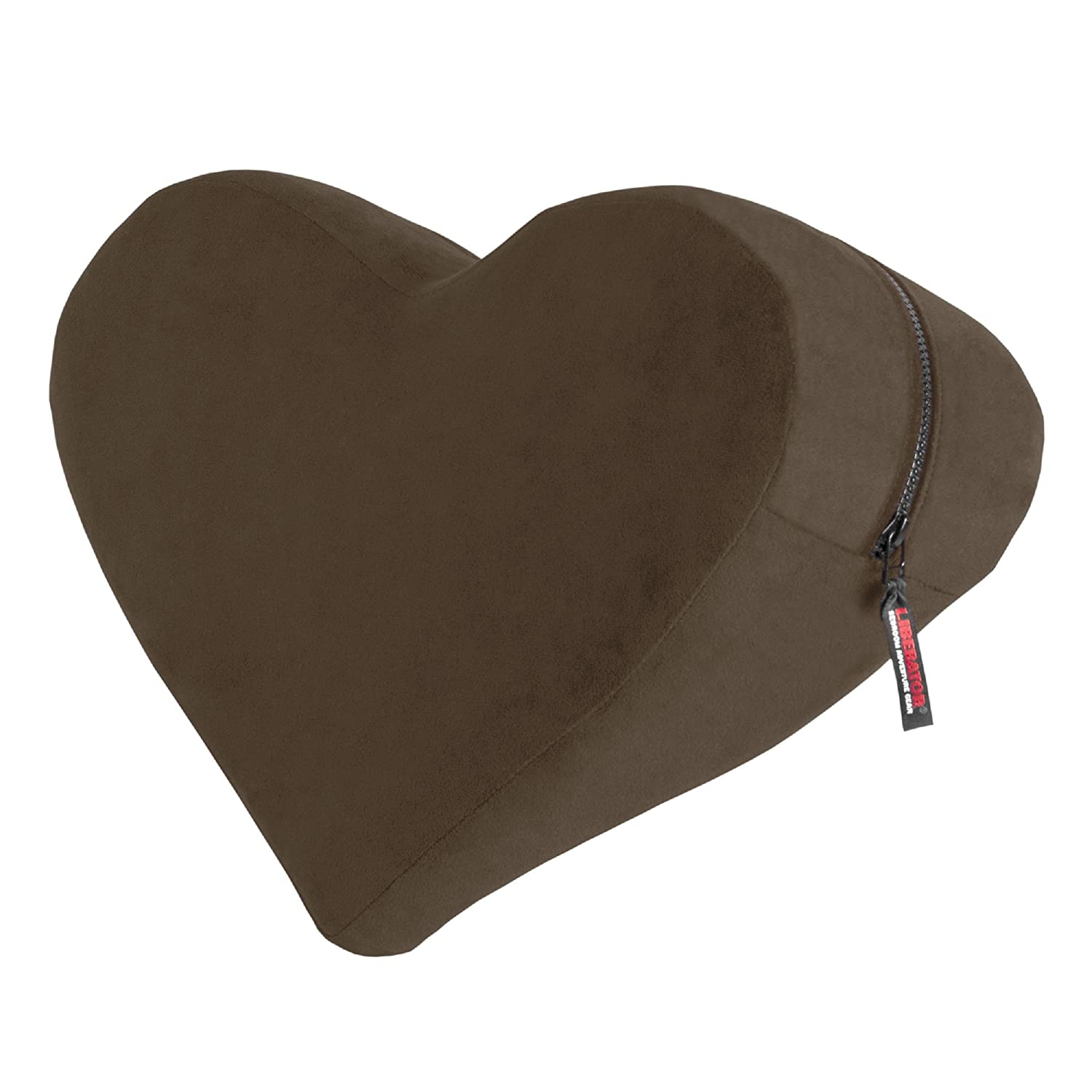 Liberator Decor Heart Wedge Pillow, Espresso Velvish