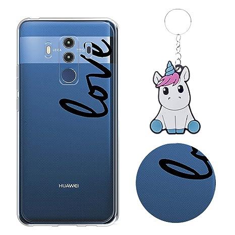 Reshia Huawei Mate 10 Pro Funda Palabras(Love) Soft Ligera ...