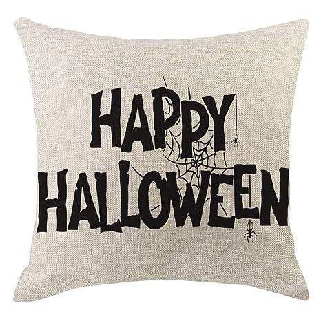 LEEDY - Funda de Almohada de Lino para Halloween, Decorativa ...