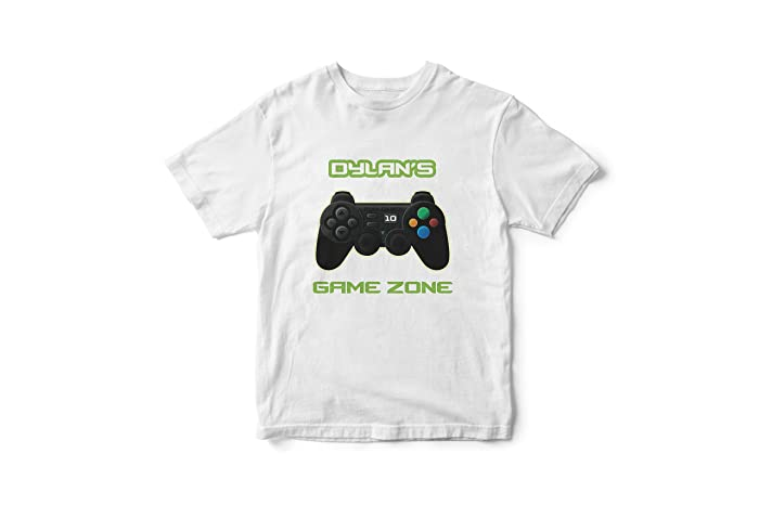 Custom Personalized Gaming Shirt Video Game Birthday Tee Party White Tshirt Nerd Gift For Him Gamer