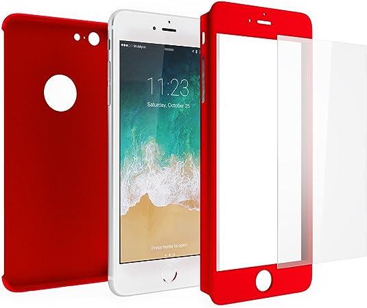 Cover iPhone 6s PLUS 360 Gradi e Vetro Temperato – Custodia Davanti e Dietro per iPhone 6s PLUS / 6 PLUS – Protezione Completa Fronte e Retro con ...