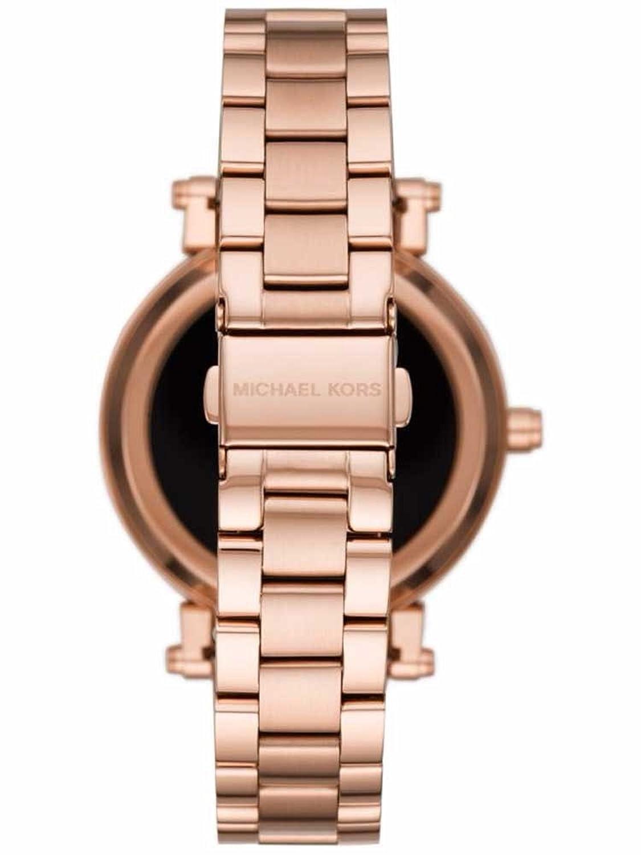 Amazon.com: michael kors oro rosa vidrio Sofie Gen reloj ...