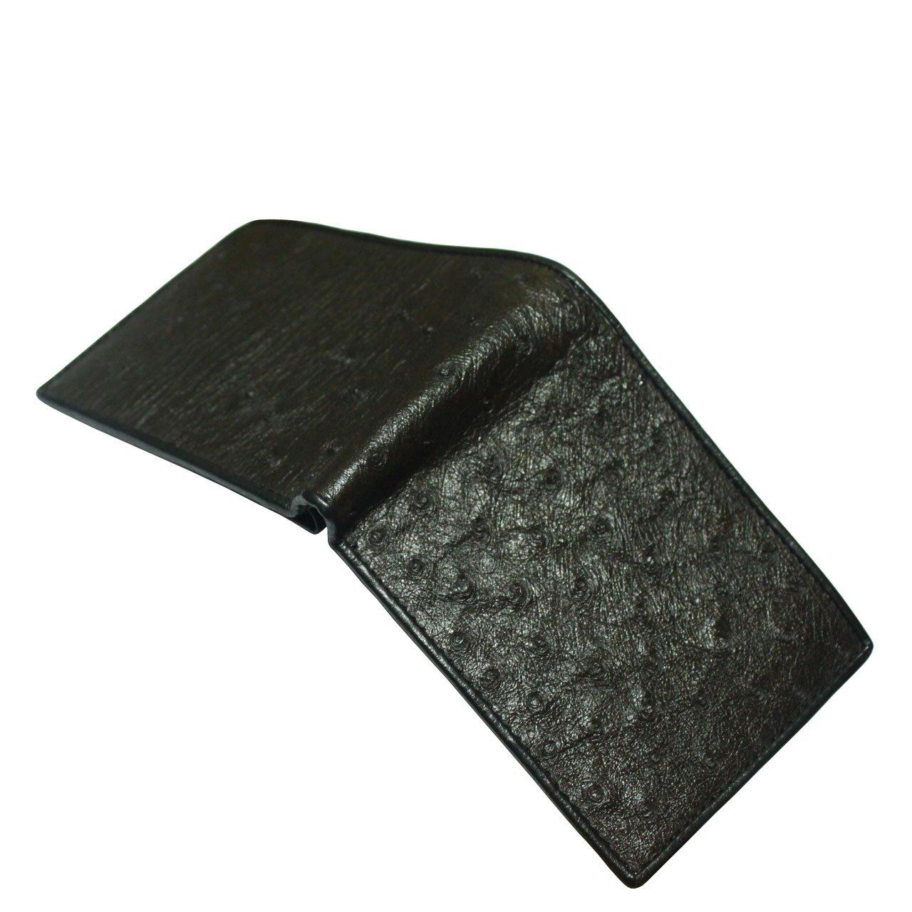 ThanhVinhCrocodile Genuine Ostrich Leg Skin Leather Man Bifold Wallet