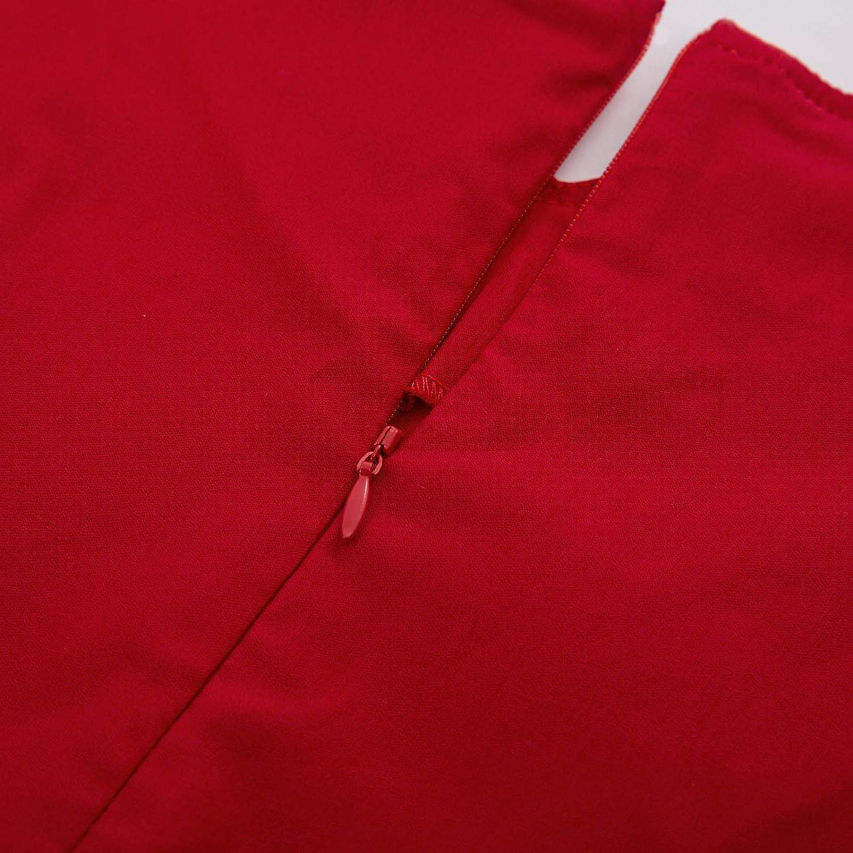 GRACE KARIN Schulterfreies Kleid 1950er Vintage Kleid 3//4 arm Petticoat Kleider CL823
