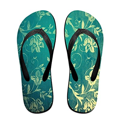 Double Happiness Summer Unisex Vintage Floral Print Flower Pattern Classical Comfortable Flat Home Sandal