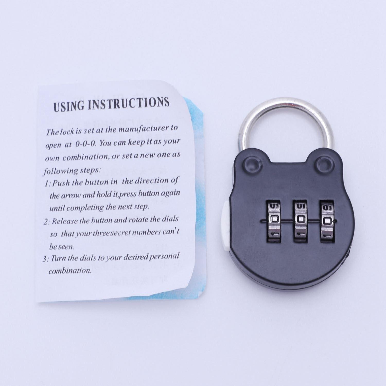 Noblik Zahlen Push Password Lock Zinklegierung Sicherheitsschloss Koffer Coded Lock Schrank Locker VorhaengeschlossSilber