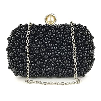Image Unavailable. Image not available for. Color  Luxury Women Evening Bag  Clutch Bags Beaded Rose Pearl Handbags Wristlet ... 75aa0ba44d7b