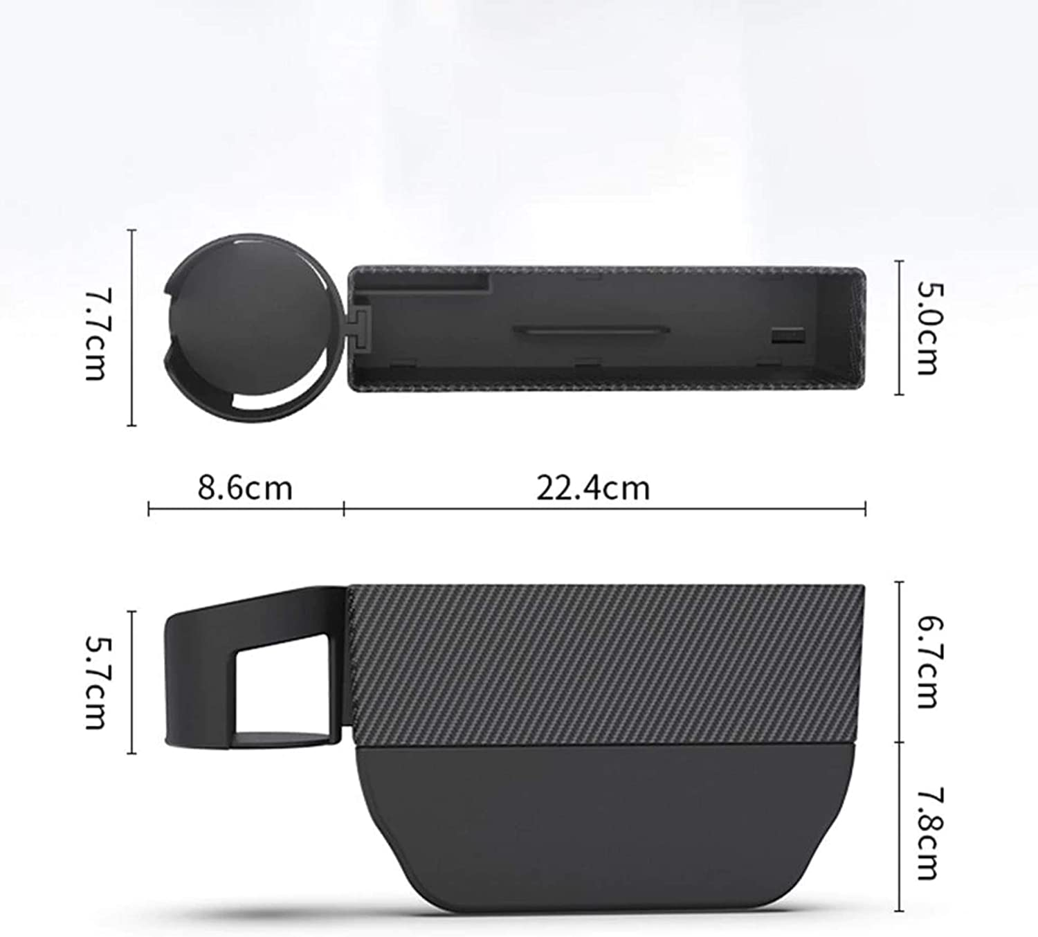 Car Seat Pockets Car Seat Gap Filler Premium Leather 2 Pack Upgraded Version Car Accessories Interior Car Seat Gap Organizer Carbon Fiber Look Car Accessories for Women and Girls