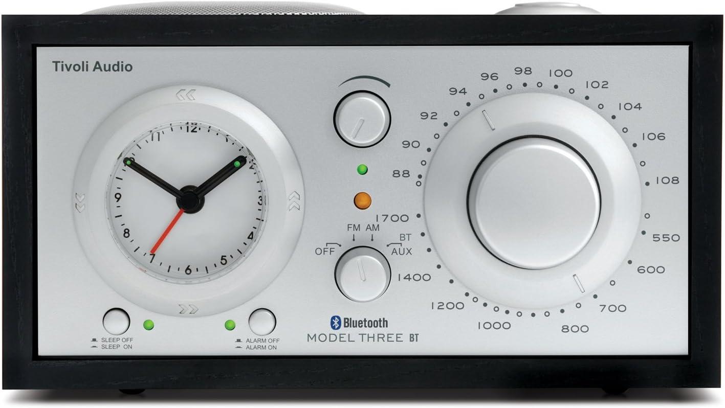 Tivoli Audio Three Bluetooth Ukw Mw Radiowecker In Schwarz Silber Audio Hifi