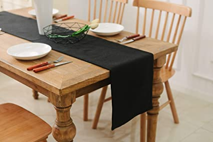 Excellent Natus Weaver Dinning Table Runner 12 X 36 Inches Farmhouse Kitchen Coffee Burlap Table Runner For Holiday Party Black Download Free Architecture Designs Intelgarnamadebymaigaardcom