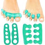 ViveSole Toe Stretchers (4 Pieces) - Silicone Gel Separators - Therapeutic Spa Spreaders for Plantar Fasciitis, Bunions…
