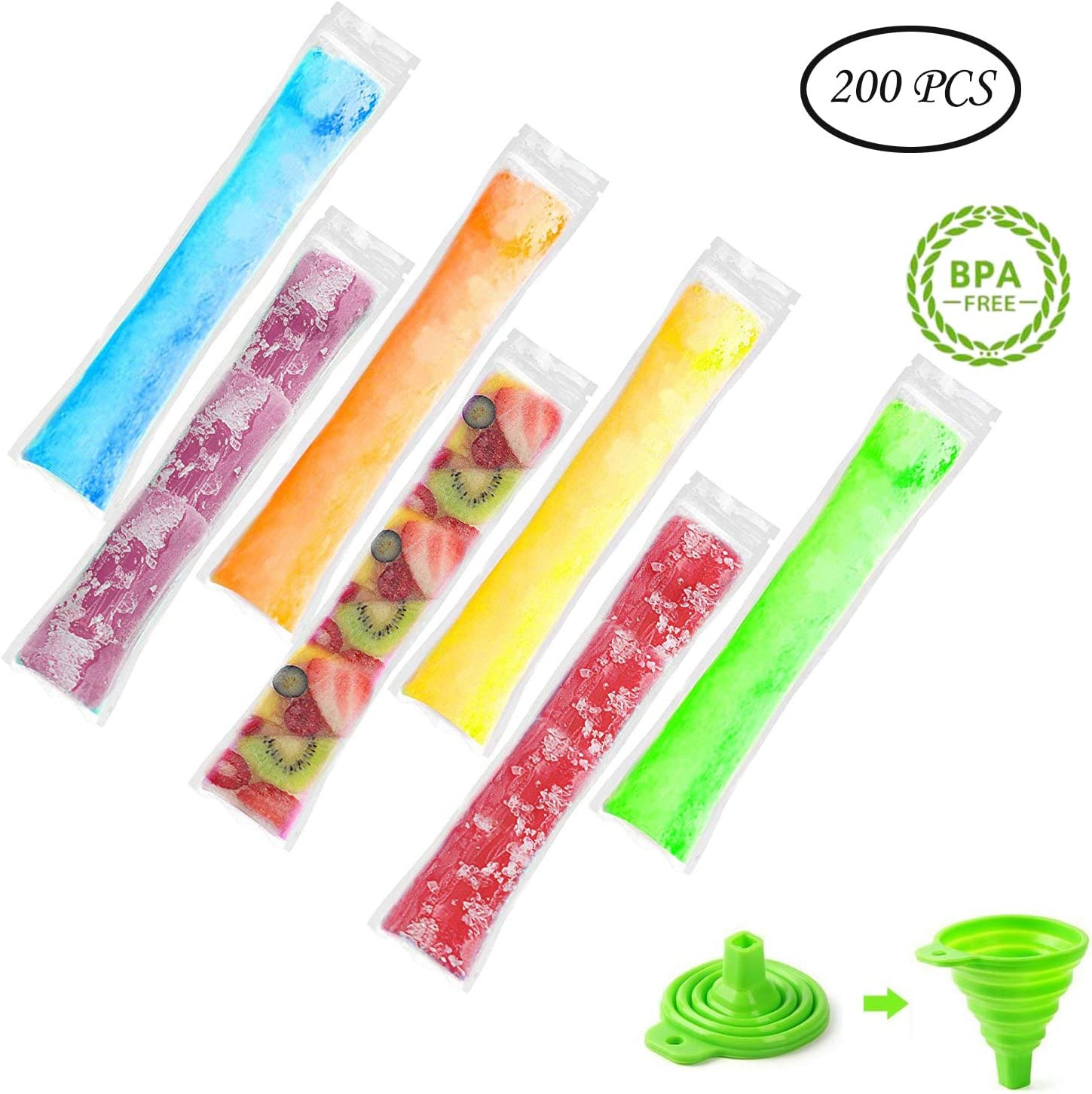 600PCS 800PCS Ice Cream Popsicle Mold Ice Disposable Bags Tubes Free Shipping!