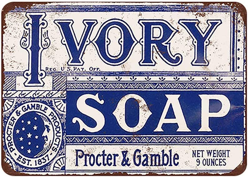 Mora color Ivory soap tin Sign Vintage Metal Pub Club Cafe bar Home Wall Art Decoration Poster Retro 8x12 inches