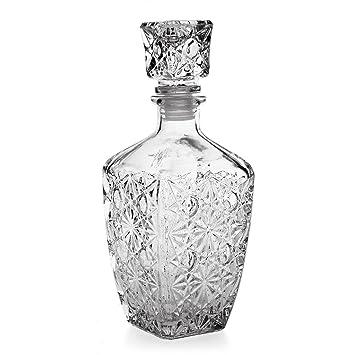 SOLMORE 200/500/850ml Botella Cristalina Vidrio Whisky licor bebidas decantador de vino botella