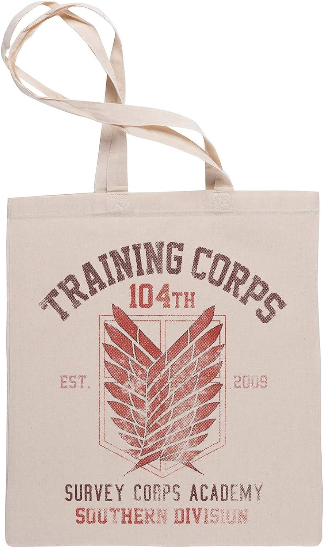 Attack on Titan Sac /à Provisions Tote Beige Shopping Bag Wigoro Training Corps 104th